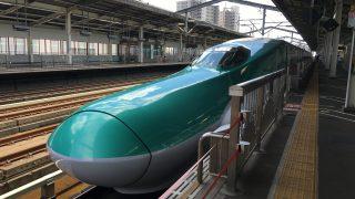 入場券買って、宇都宮駅で新幹線を見る