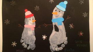 足形winter art☆&いざという時のための応急手当講座
